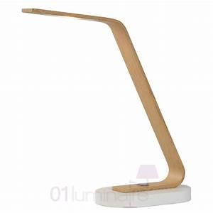 Lampe Bureau Bois : lampe de bureau led dani bois naturel 03618 05 72 lucide ~ Teatrodelosmanantiales.com Idées de Décoration