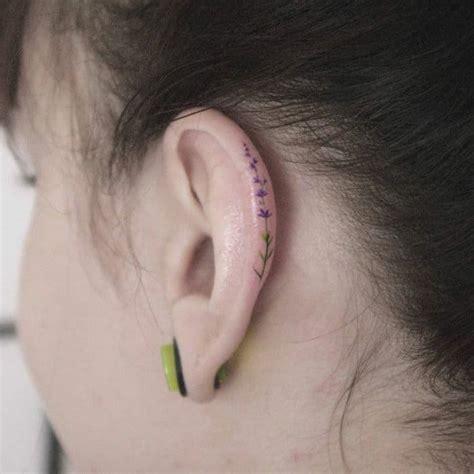 helix ear tattoos  newest   decorate  ears ritely