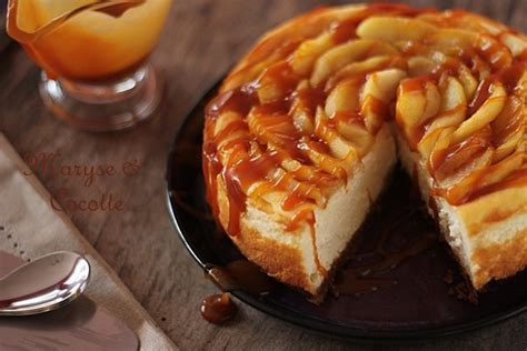 cheese cake aux pommes caramel beurre sal 233 maryse