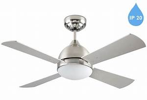 Leds c borneo ip remote controlled ceiling fan satin