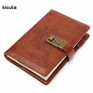1pcs Vintage Rudder Brown Leather Journal Blank Diary Note