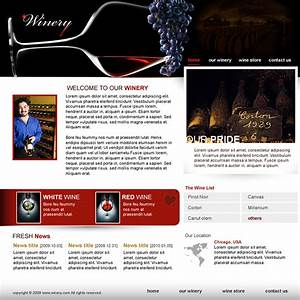 dream weaver template - winery dreamweaver templates