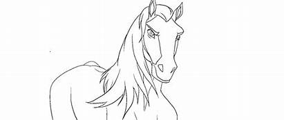 Spirit Gallop Horse Animation Rearing Stallion Lineart