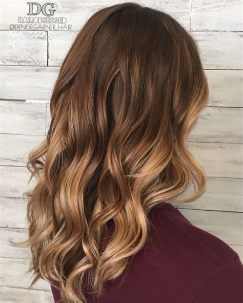 fall hair color  brown blonde balayage carmel