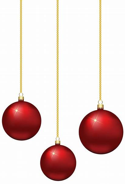 Hanging Balls Clip Elegant Clipart Holiday Redchristmas