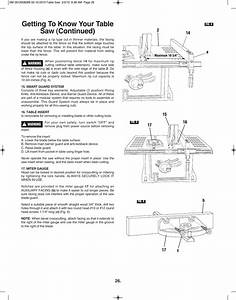 Getting To Know Your Table Saw  Continued