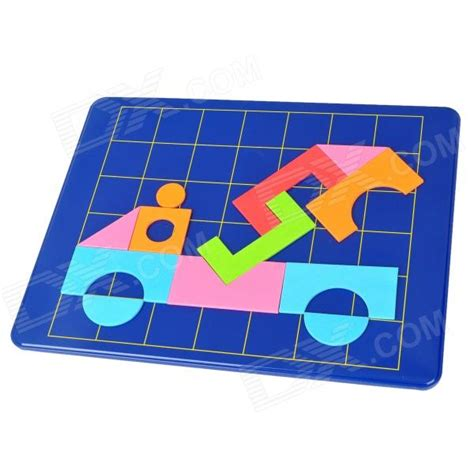 magnetic jigsaw diy geometric figure pattern magnetic jigsaw puzzle
