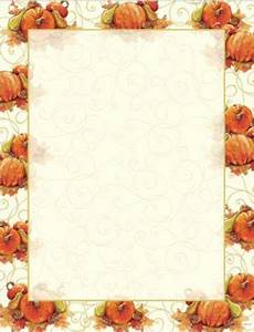 Featuring a beautifully elegant pumpkin and swirls border ...