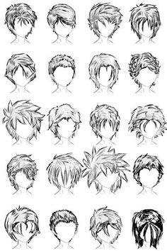peinados masculinos al estilo manga clasico dibujo