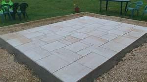 Pose Abri De Jardin Sur Dalle Gravillonnée : realisation d 39 une dalle en pierre de ciment et de pierre ~ Dailycaller-alerts.com Idées de Décoration