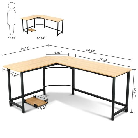 l shaped table desk tribesigns modern l shaped desk corner computer desk pc