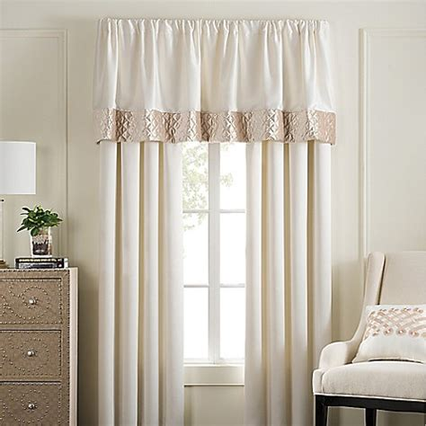 pearl stripe window curtain panel pair  valance bed bath