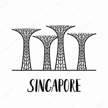 Bay Gardens Singapore Landmark Famous Lettering Modern