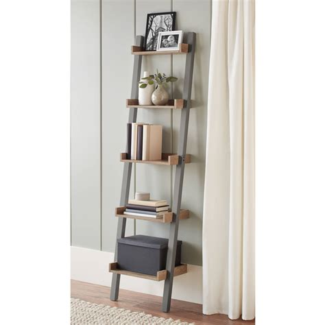 Leaning Bookcase Walmart by Better Homes And Gardens Bedford 5 Shelf Narrow Leaning