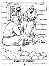 Joseph Coloring Pages Bible Prison Jail Story Sunday Wife Colouring Children Crafts Egypt Dreams Silas Paul Name Potiphar Projects Lessons sketch template