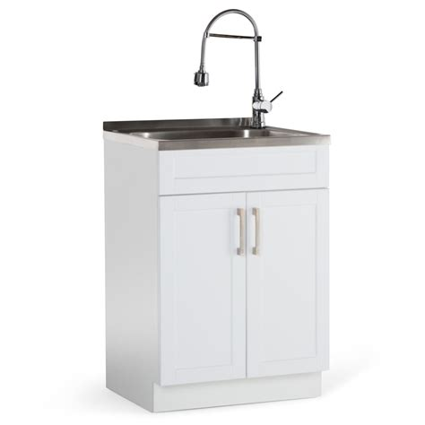 Utility Sink In Cabinet by Simpli Home Hennessy 24 In Laundry Cabinet With Faucet