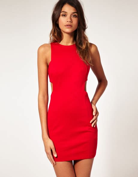 Red shift dresses