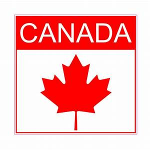 canada maple leaf square sticker us custom stickers With custom labels canada
