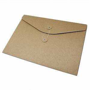 10pcs brown kraft paper a4 document holder file storage With document envelope