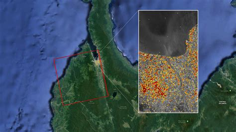 news nasas aria maps indonesia quake tsunami damage