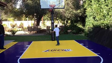 los angeles lakers court   backyard youtube