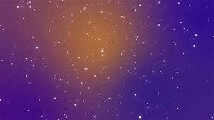 Galaxy animation with shining light particle stars on ...