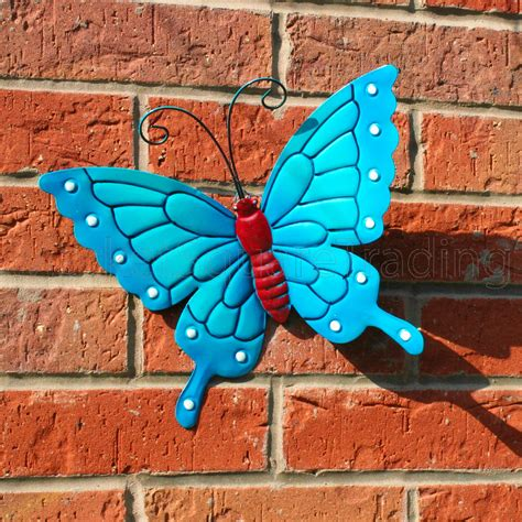 butterfly large new blue metal butterflies wall