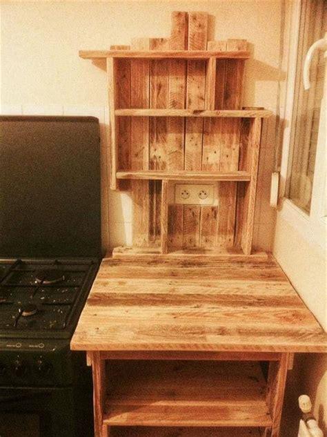 diy pallet kitchen table  shelves