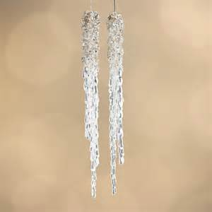 beaded acrylic icicle ornaments christmas ornaments christmas and winter holiday crafts