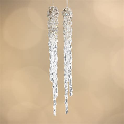 beaded acrylic icicle ornaments christmas ornaments