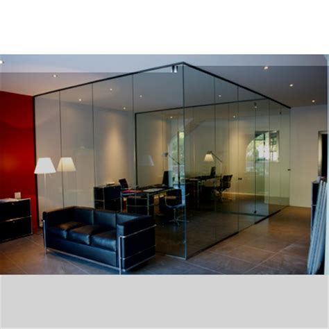 cloison de bureau en verre en verre et contre tout réalisations verrerie porte et