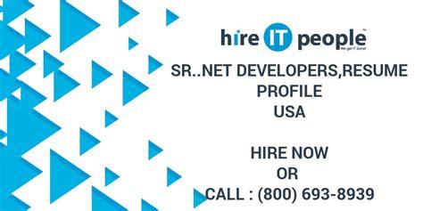 srnet developersresume profile hire  people