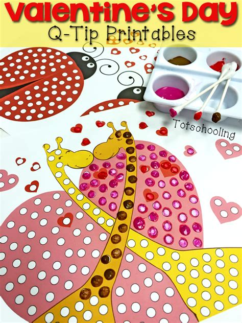 valentines day  tip painting printables