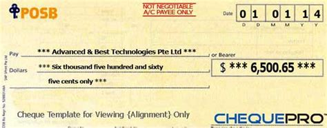 cheque printing writing software  singapore banks