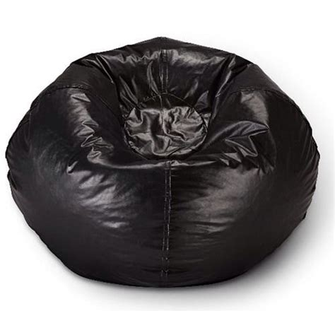new gorgeous 96 quot black vinyl large bean bag chair