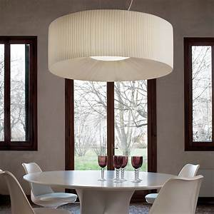 Large round ceiling lights : Large round white pleated ceiling light
