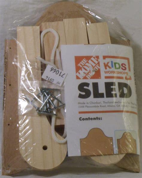 home depot kids workshop wooden sled kit craft kits