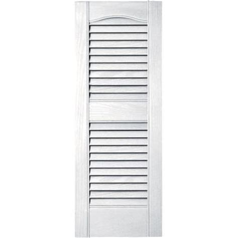 builders edge 12 in x 31 in louvered vinyl exterior