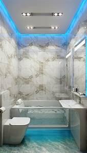 vous cherchez des idees pour comment faire un faux plafond With carrelage adhesif salle de bain avec luminaire suspendu a led