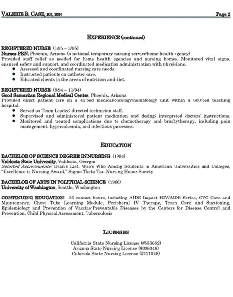 nursing professional resume sles healthcare sales resume exle