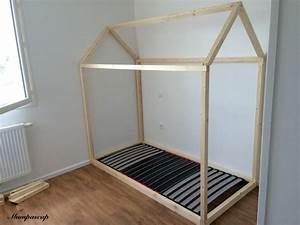 Lit Montessori Cabane : lit cabane 90x190 lit cabane b 90 x190cm monlitcabane ~ Melissatoandfro.com Idées de Décoration
