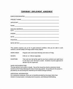 employment contract sample small business employee With staffing contract template
