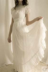 192039s wedding dress white ruffles With 1920 s wedding dresses