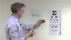Vision Test Chart How To Check Your Patient 39 S Visual Acuity Youtube