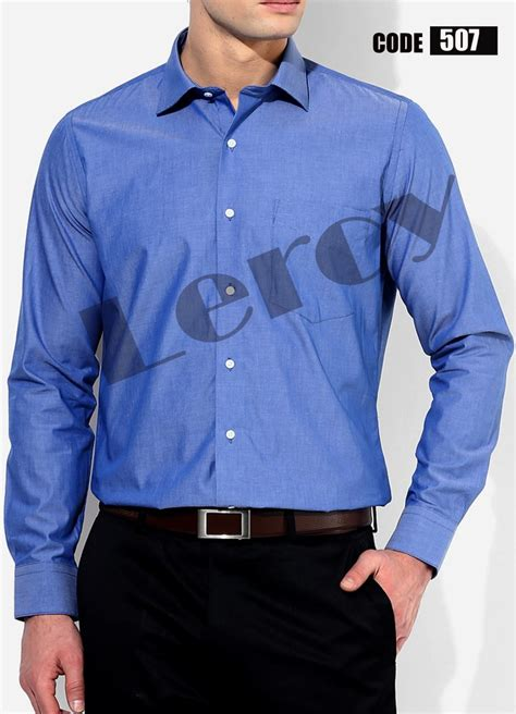jual beli kemeja pria lengan panjang warna biru muda