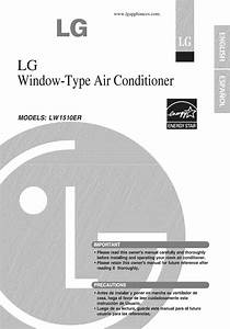 Lg Lw1510er User Manual Air Conditioner Manuals And Guides
