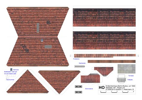 einfamilienhaus um  berlin rudow kartonmodell gtpde