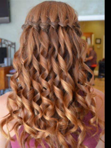 waterfall braid  curls aaaaaaa hairhairhair