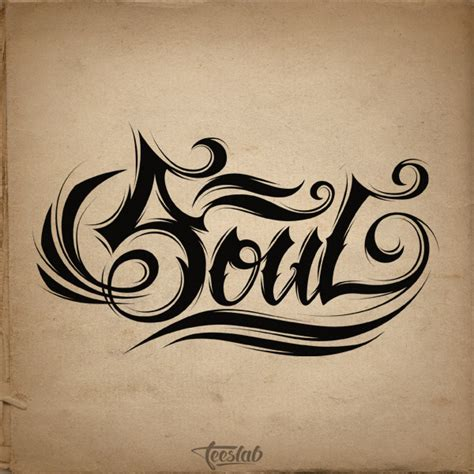 Collection of Tattoo Lettering Design