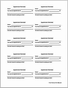 medical appointment card template free templates ideas With medical appointment card template free